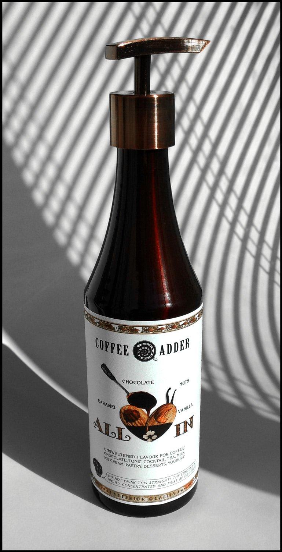 Nuts-Chocolate-Caramel coffee syrup