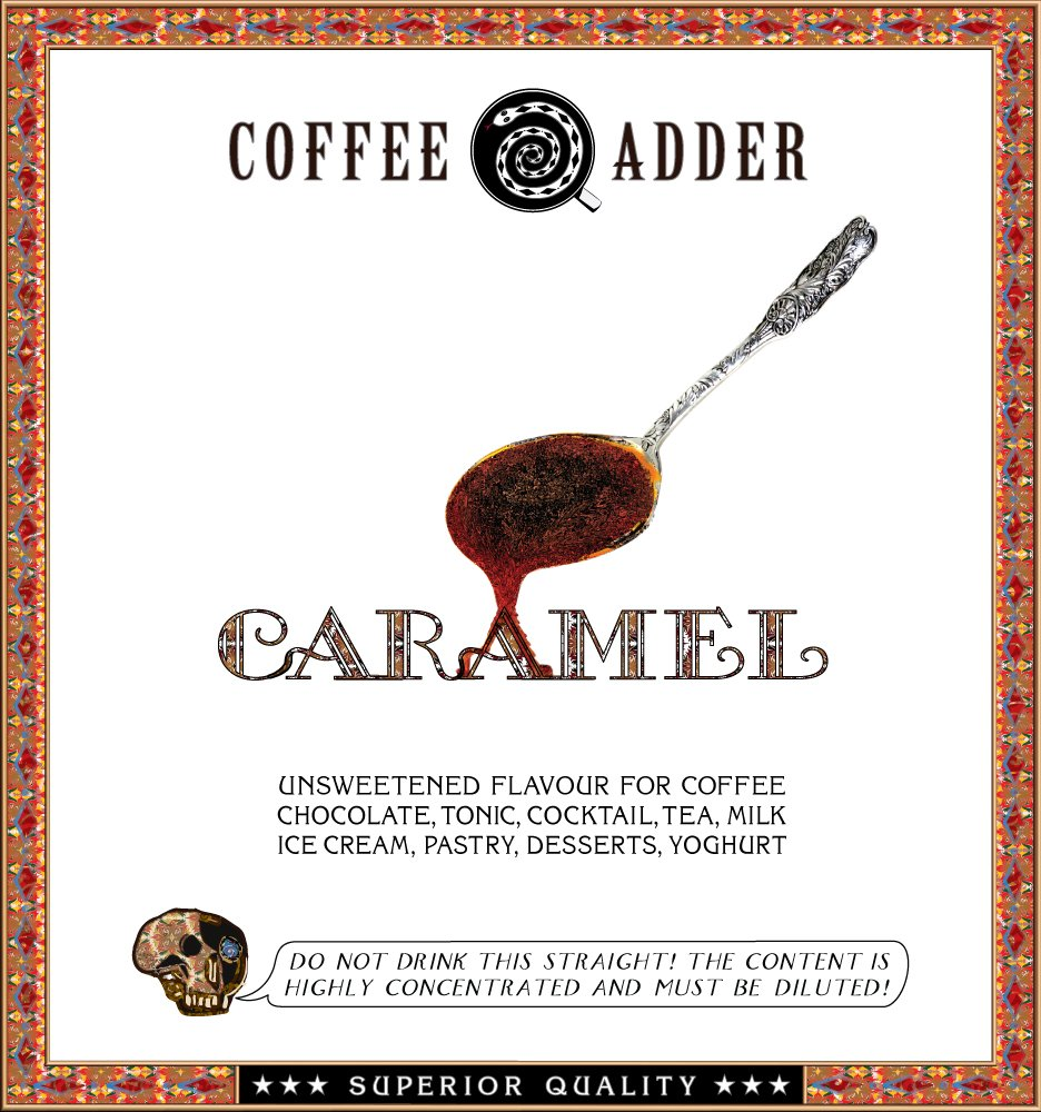 Unsweetened Caramel Coffee Syrup