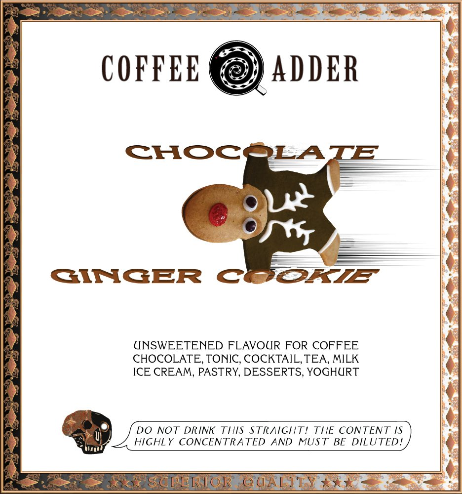 Chocolate and Ginger Cookie coffee Syrup