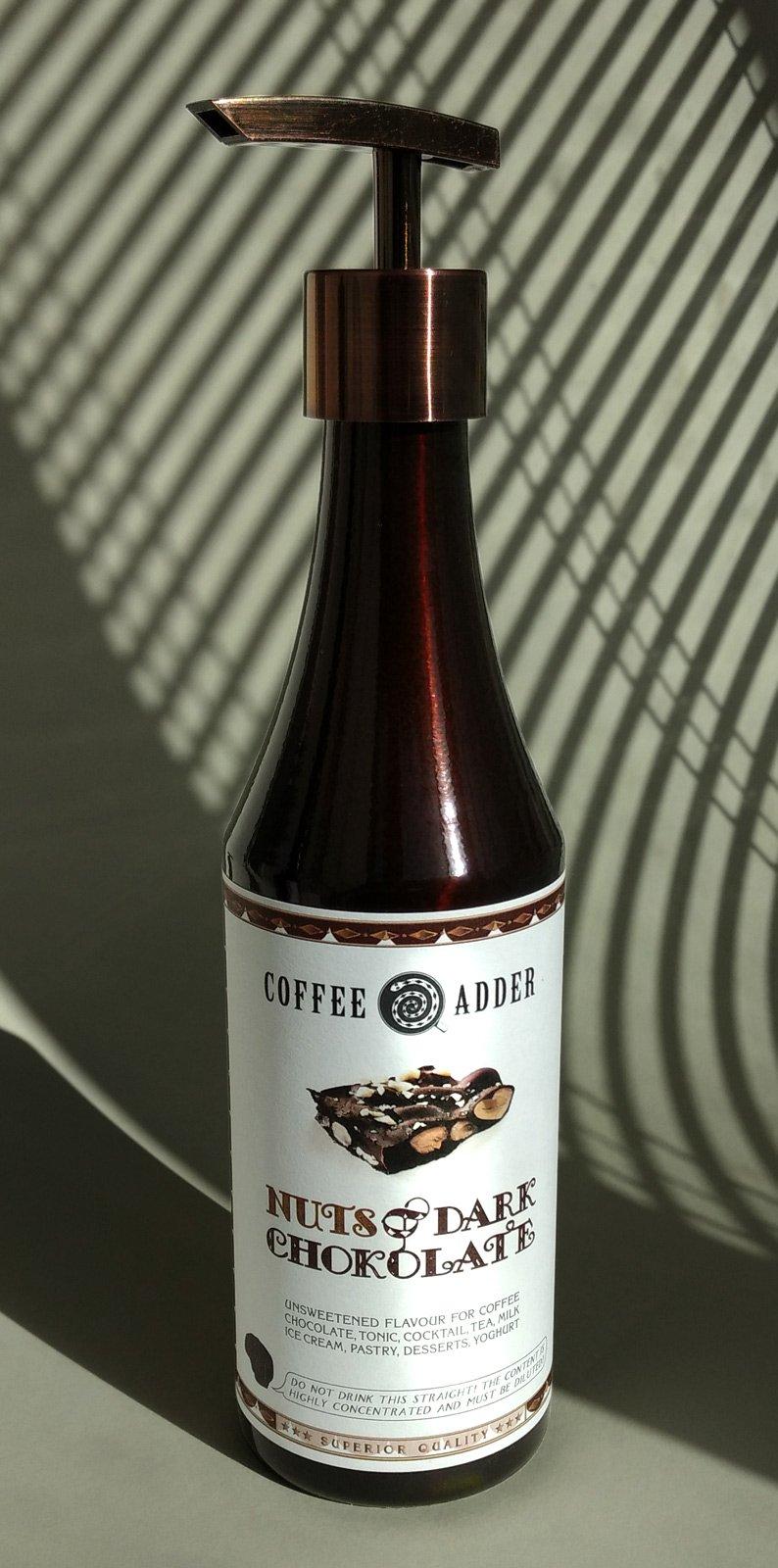 Nuts Dark Chocolate coffee syrup