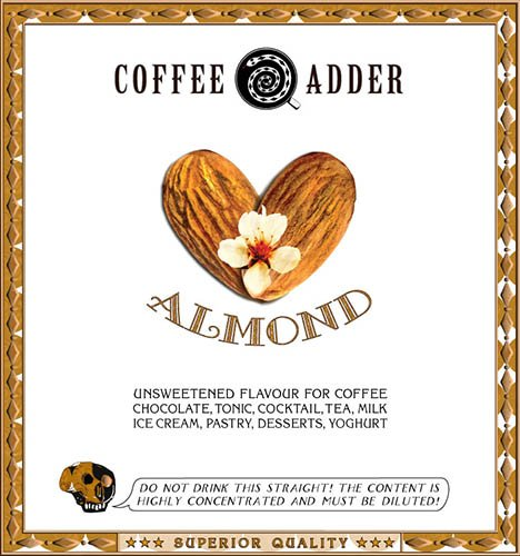 Unsweetened Almond coffee syrup
