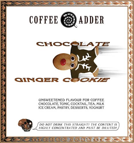 Skinny Chocolate Ginger Cookie Coffee Syrup