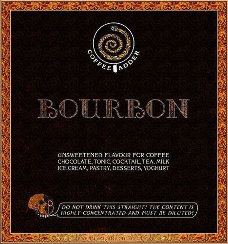 Bourbon flavoured coffee syrup