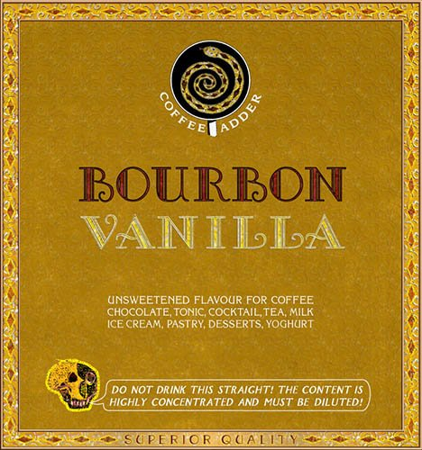Bourbon & Vanilla coffee syrup