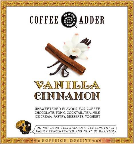 Vanilla and Cinnamon coffee syrup refill