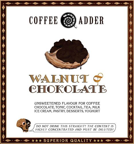 Walnut and Chocolate coffee syrup