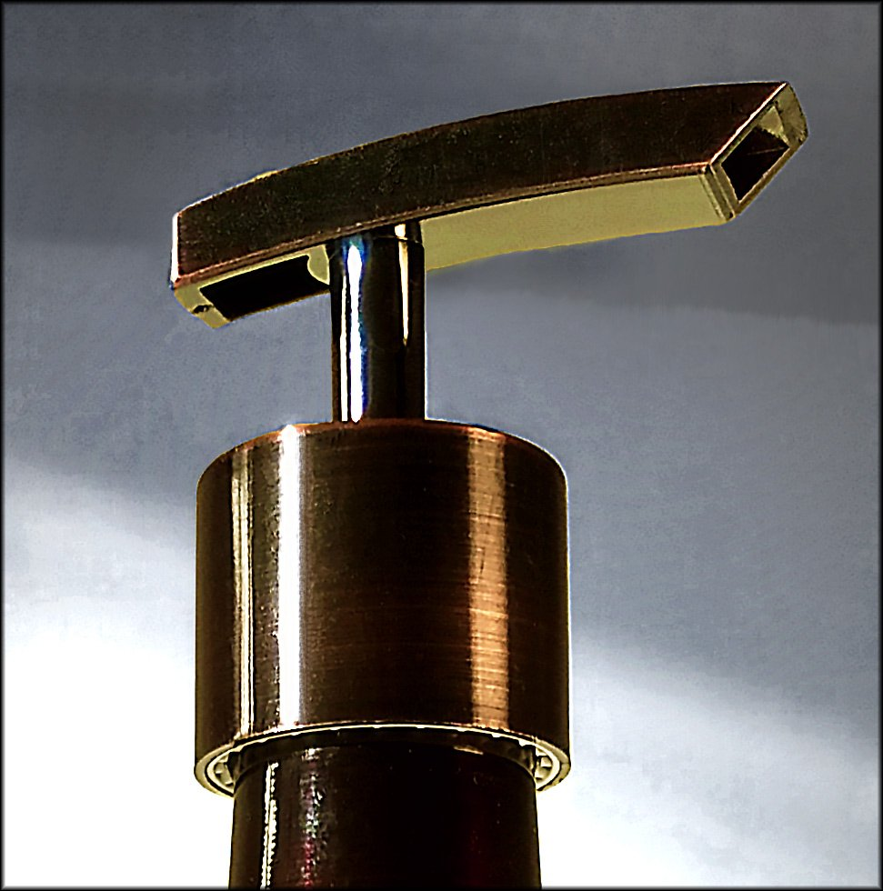 Coffee syrup bottle pump in copper
