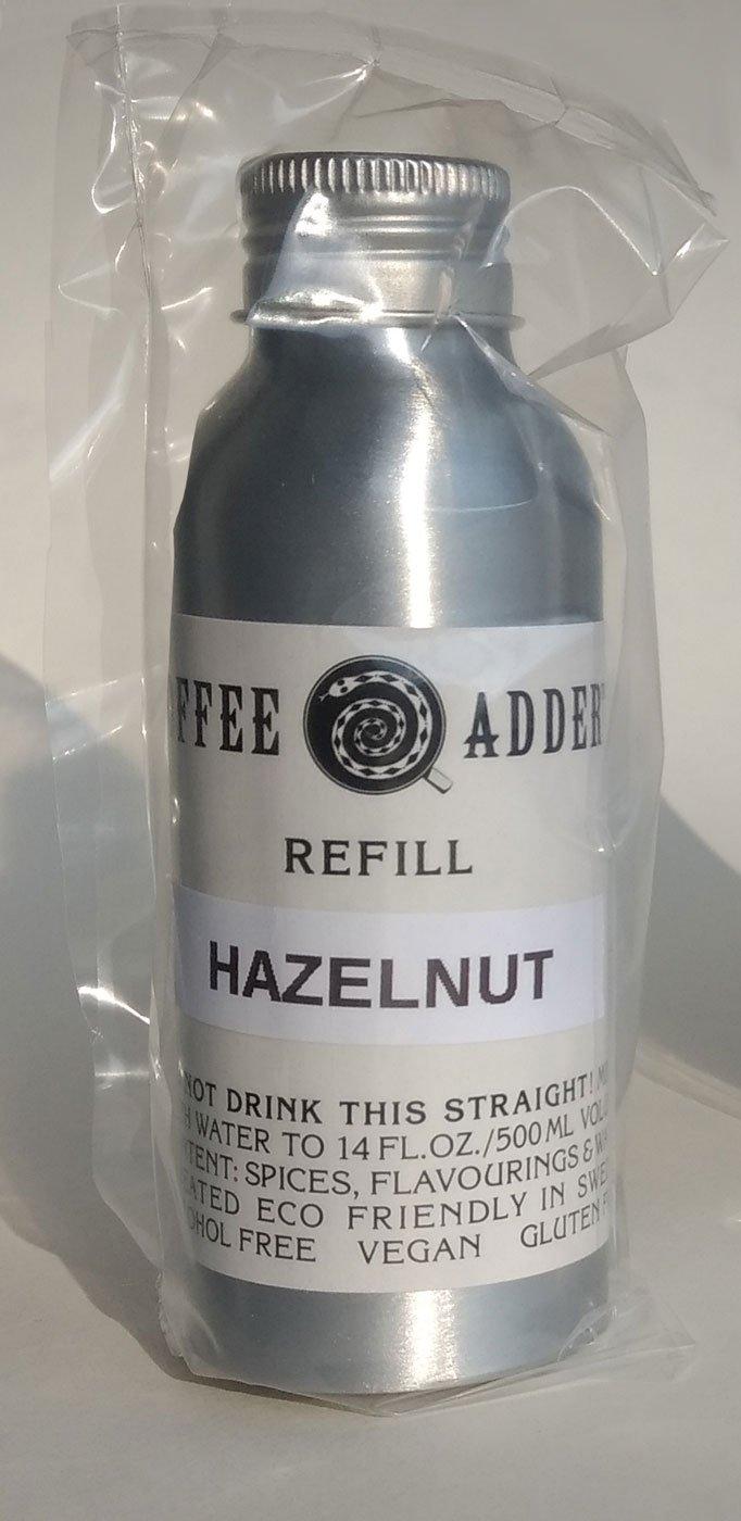 Unsweetened hazelnut coffee syrup refill