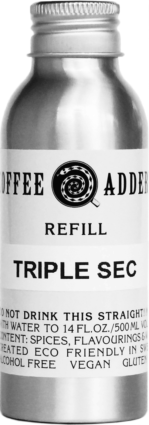 Refill Triple Sec Syrup for coffee cocktail